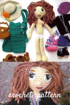 #crochetdoll #amigurumidoll #dollclothes #dollpattern #amigurumipattern #crochetamigurumi #crochetgirl #crochettoy #pletionica Crochet Doll Pattern, Crochet Patterns Amigurumi, Amigurumi Doll, Crochet Hooks, Unique Crochet, Crochet Ideas, How To Make Toys, Crochet Girls, Crochet Instructions