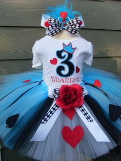 Custom TutusQUEEN of HEARTS in shades of BLUETutu by fairyfashions, $75.00