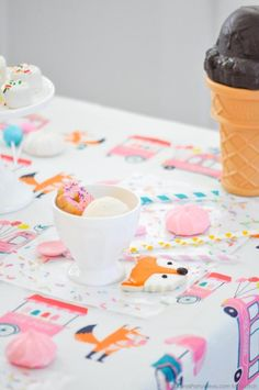 DIY Sprinkles Placemats + Ice Cream & Fox Party at Kara's Party Ideas. See the tutorial at karaspartyideas.com!