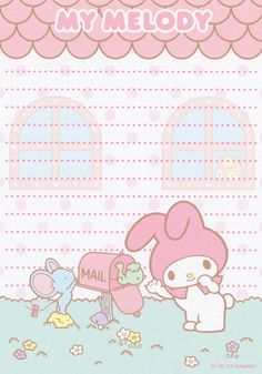 My Melody - Papel de Carta - Writing Paper - Letter Paper - Free Printables - Stationery My Melody Wallpaper, Sanrio Wallpaper, Little Twin Stars, Hello Kitty, Memo Notepad, Cute Notes, Kawaii Stationery, Letter Set, Sanrio Characters