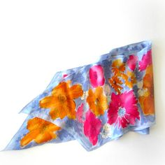 Vera Scarf Vera Neumann Silk Watercolor Womens by Thetrinketsden, $20.00