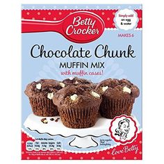 Betty Crocker Chocolate Chunk Muffin Mix with Muffin Cases 335g * Continue to the product at the image link.