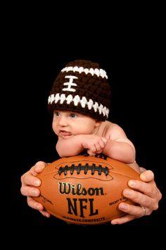 Crochet Football Beanie - so cute!