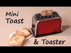 Miniature Toast & Toaster - Polymer Clay Tutorial - YouTube