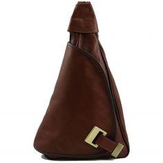 """Handtasche / Rücksack / Schultertasche aus Italien.Weiches Leder """"Sauvage"""" Überschlag, Reissverschlussfach auf der Rückseite, Reissverschlussfach an der Vorderseite, Seitliches Fach mit Verschluss. -"""