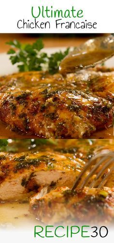 """CHICKEN FRANCAISE Also known as """"Francese"""" egg dipped chicken breast in tangy buttery sauce"""