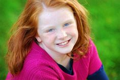 SMILES OF A RED HAIRED FRECKLE FACED LIL ANGEL...LOVE MOMMA......J.L.G......