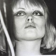 """Debbie Harry, bringing the eyeliner """"A"""" game, by Leee Black Childers"""