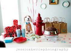My baby dear wants a puppy themed birthday party this year :: finding inspiration!