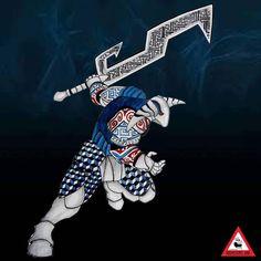 Sven  #sven , the god of war.  #dota2 #geometricarmour #originalart #warrior #nimztattooz #monstersink