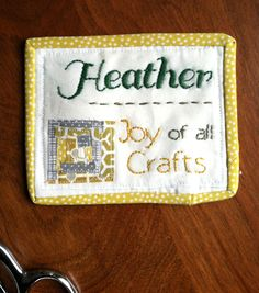 joyofallcrafts - home - DIY Quilted Name Tag