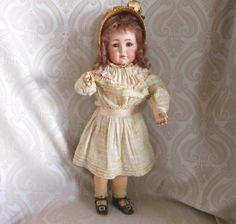 "K*R//Simon & Halbig//117. Cabinet Size Kammer & Reinhardt Bisque Head Character Doll ""Mein Liebling"""