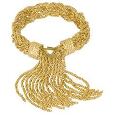 Aurelie Bidermann Bracelets Miki Gold Plated Braided Rope Bracelet ($500) ❤ liked on Polyvore featuring jewelry, bracelets, braided cord bracelet, boho bangles, 18k bangle, fringe jewelry and bohemian bangles
