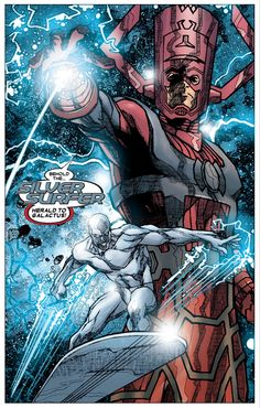 Annihilation: Silver Surfer - #3 (2006). Writer: Keith Ian Giffen; Artist: Renato Arlem; Colorist: June Chung; Letterer: Cory Petit. #Galactus