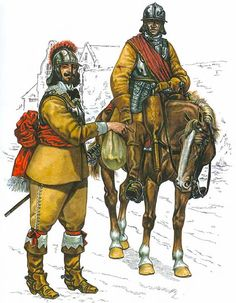 Officer Royalist horse and trooper King's Lifeguards, 1642.