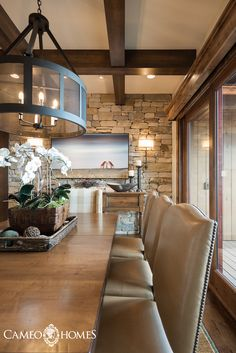 Dining Room In Park City Utah By Cameo Homes Inc Home Builder