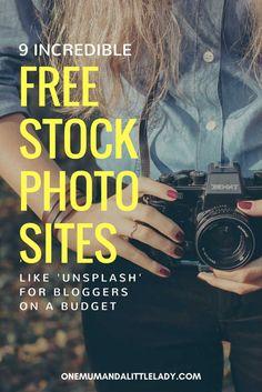 9 Incredible Free Photo Sites Like Unsplash via @https://uk.pinterest.com/1mumlittlelady/