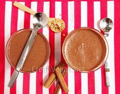 mousse de chocolate vegano con maizena (almidón de maíz)