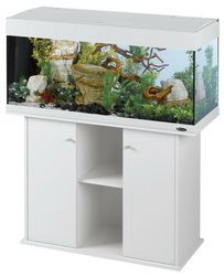 Ferplast Dubai 120 Aquarium and Stand White - click to enlarge