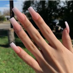 813 Likes, 0 Comments - Nails Pink Ombre Nails, Bling Acrylic Nails, Aycrlic Nails, Best Acrylic Nails, Cute Nails, Pretty Nails, Hair And Nails, Glitter Nails, Coffin Nails