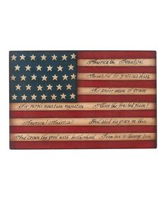 Take a look at this America the Beautiful Wood Wall Art by Transpac Imports on #zulily today!