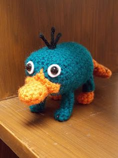 Great Grey Crochet: Where's Perry?