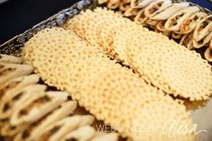 Pizzelles Italian Cookies for Pittsburgh Cookie Table, Wedding cookie table, Pittsburgh Wedding Photographers I looovveee Pizzelles!!
