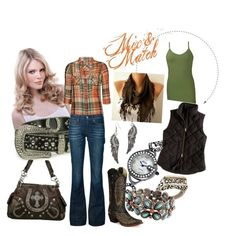 CUTE! Minus the vest, scarf, and earrings!