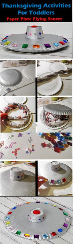 Thanksgiving Activities for Toddlers - Paper Plate Flying Saucer
