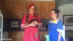 Sisters, Morro and Jasp, attempt magic. Sister Love, Clowns, Lily Pulitzer, Sisters, Magic, Hats, Dresses, Fashion, Vestidos