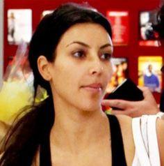 Kim k #no makeup