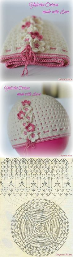 Como tejer un gorro para niñas a crochet