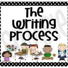 I've created these writing process posters cute enough for any classroom.  You won't need to laminate these ... just print them onto 8x10 photo pap...