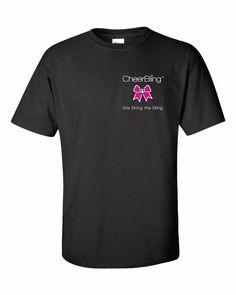 NEW CHEERBLING CHEERLEADER BLACK LOGO T-SHIRT 100% COTTON SIZE YOUTH SMALL CHEER #CheerBling