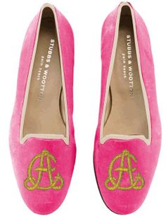 Stubbs & Wooton bespoke flats...I'll take one in every color, style, monogram...LOVE!  Can't wait to visit Dallas store;)