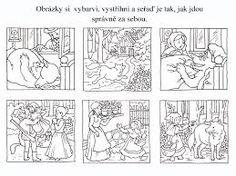 Výsledek obrázku pro vyprávění podle obrázků Snap Words, Big Bad Wolf, Red Riding Hood, Little Red, Fairy Tales, Student, Teaching, Illustration, Pictures