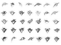 qbrehler penguins sketches 20 Inspiring Logo Sketches