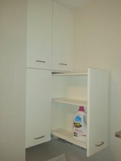 Washing machine cabinet, top with drawers