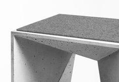 Hocker Heinrich Geometric Concrete Stool. Designed by Panatom with Matthias Froböse.