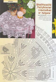 Kira scheme crochet: Scheme crochet no. Free Crochet Doily Patterns, Filet Crochet Charts, Crochet Motif, Crochet Doilies, Crochet Birds, Easter Crochet, Thread Crochet, Holiday Crochet, Crochet Home