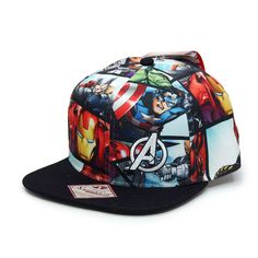 Marvel Superhero Avengers Sublimated Adjustable Snapback Baseball Cap
