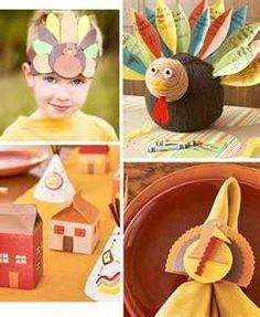 Kids Thanksgiving Craft Ideas @Craftzine.com blog