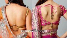 Backless Blouse Designs | Sarees Villa