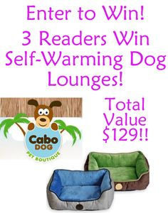 {Giveaway} 3 Readers Win Self-Warming Lounge Dog Sleepers! Total Value $129