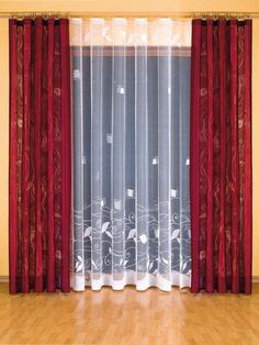 17 Stylish Curtains Design that Will Steal the Show - Top Inspirations Elegant Curtains, Modern Curtains, Colorful Curtains, Sheer Curtains, Red Curtains Living Room, Home Curtains, Curtain Designs, Curtain Styles, Curtain Ideas