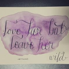 Trying my hand at watercolor and calligraphy. I like it so far