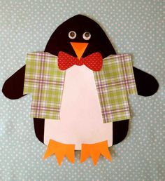Winter Learning Penguin craft (free printable) and booklist for library storytime Toddler Crafts, Preschool Crafts, Fun Crafts, Paper Crafts, Penguins And Polar Bears, Cute Penguins, Winter Activities For Kids, Winter Crafts For Kids, Tacky The Penguin