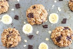 Healthy Chocolate Chunk Banana Oatmeal Cookies - a delicious and healthy cake cookie recipe that doesn't taste healthy. Made with all natural ingredients.