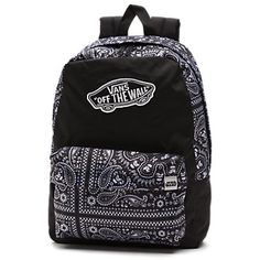 b700c77c60 Vans Black and White Striped Realm Backpack  vans  backpack ...