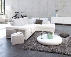 salon gris blanc - Salon Design Sol Gris